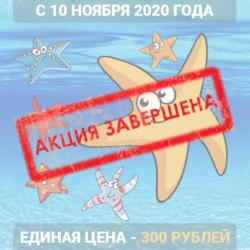 Акция единая цена 300 рублей (завершена)